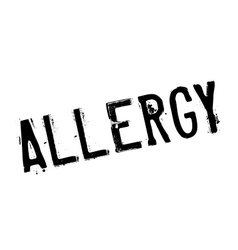 Allergy rubber stamp vector