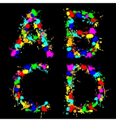Alphabet color drop abcd vector image