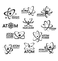 atom nuclear physics and molecular technology vector image
