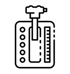 Automatic gearbox icon outline style vector