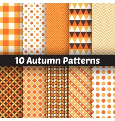 Autumn seamless patterns Endless texture for vector