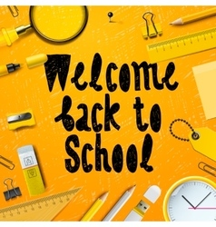 Back to School marketing background vector
