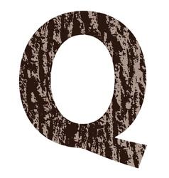 Bark letter Q vector
