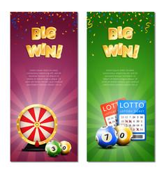 Bingo lottery vertical banners vector