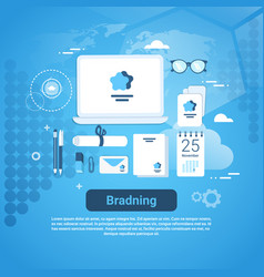 Branding idea marketing technology concept web vector