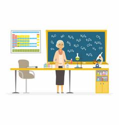 chemistry teacher - modern cartoon people vector image