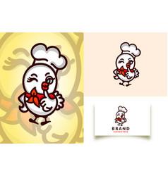 Chicks chef logo template vector