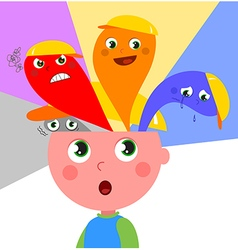 Child emotions vector image