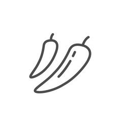 Chili pepper line icon vector