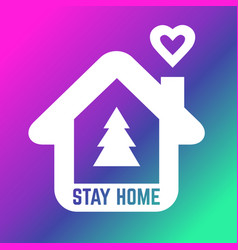 christmas time please stay home icon protection vector image