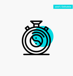 Clock concentration meditation practice turquoise vector
