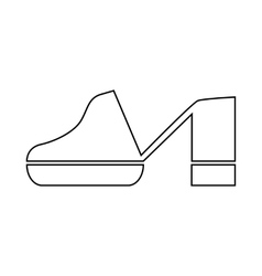 Clogs shoe icon in outline style vector