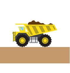 Colorful tip-truck picture vector