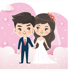 couples wedding vector image