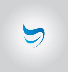 dental wave logo abstract vector image