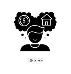 Desire black glyph icon vector