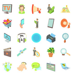 Development of applications icons set vector