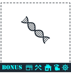 DNA icon flat vector image
