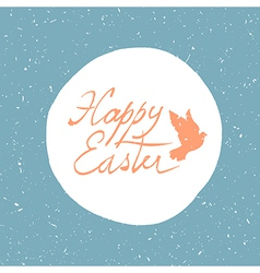 easter card with dove vector image