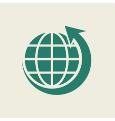 Eco Flat Icon vector