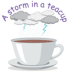 English idiom with picture description for storm vector
