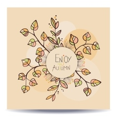 Enjoy autumn card vector image