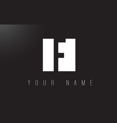 f letter logo with black and white negative space vector image