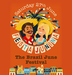Festa junina brazil june festival vector