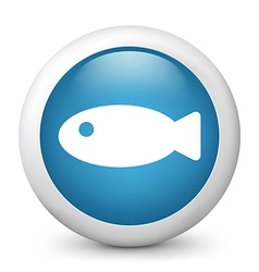 Fish glossy icon vector