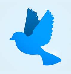 flat blue bird social media concept vector image