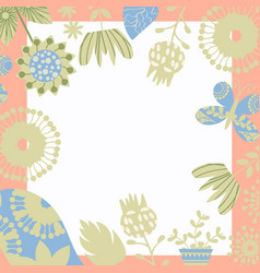 floral background card design vector image