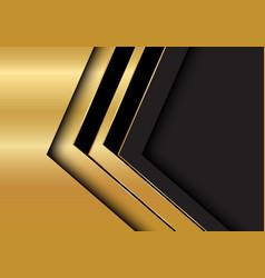 gold black arrow direction on dark grey blank vector image