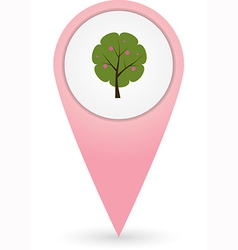 GPS marker with park icon vector image