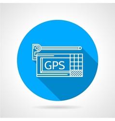 GPS navigator flat line icon vector image