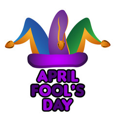 harlequin hat april fool day vector image