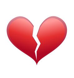Heart broken vector