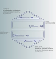Hexagon infographic template horizontally divided vector