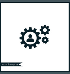human with gear icon simple vector image