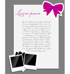 instant photo background blank page vector image