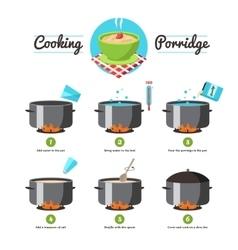 Instructions For Cooking Porridge vector image