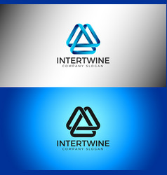 intertwine - abstract infinity logo template vector image