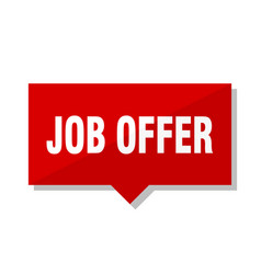 Job offer red tag vector
