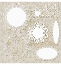Lacy scrapbooking napkin designs vector