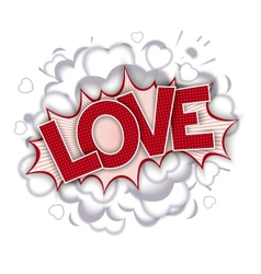 Love - comic speech bubble vector