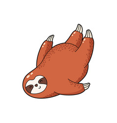 lovely cartoon sloth logo vector image