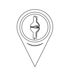 Map pin pointer knee joint icon vector