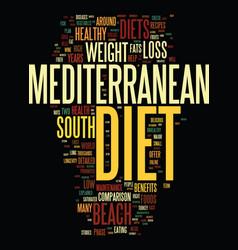 Mediterranean diet and south beach diet a vector
