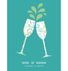 Mysterious green garden toasting wine vector