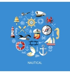 Nautical Round Composition vector image