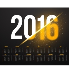 New Year 2016 Calendar with Explosion Effect vector